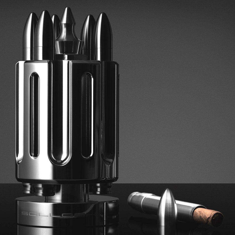Solloshi Releases Limited Edition Line of Titanium Cigar Accessories